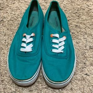 Call it Spring teal fashion sneaker